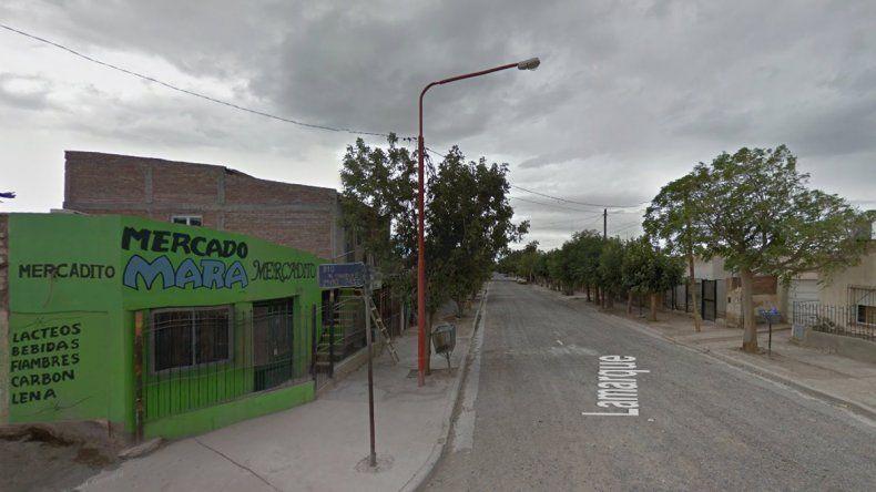 La vivienda ubicada en Luís Beltrán y naciones Unidas del barrio Anai Mapu.
