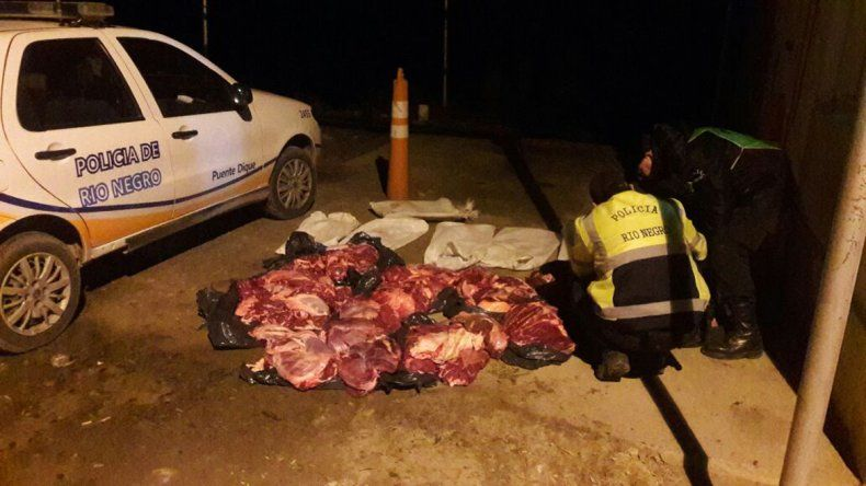 Decomisaron 700 kilos de carne vacuna sin hueso
