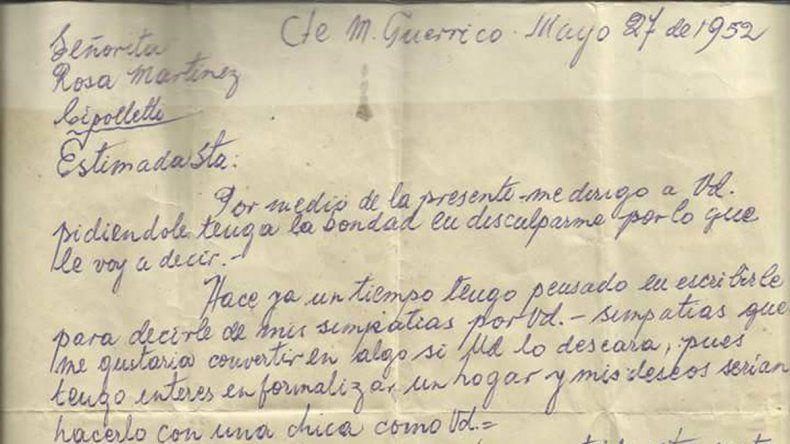 La carta con la que Italo conquistó a Rosa en 1952 se viralizó en Twitter.