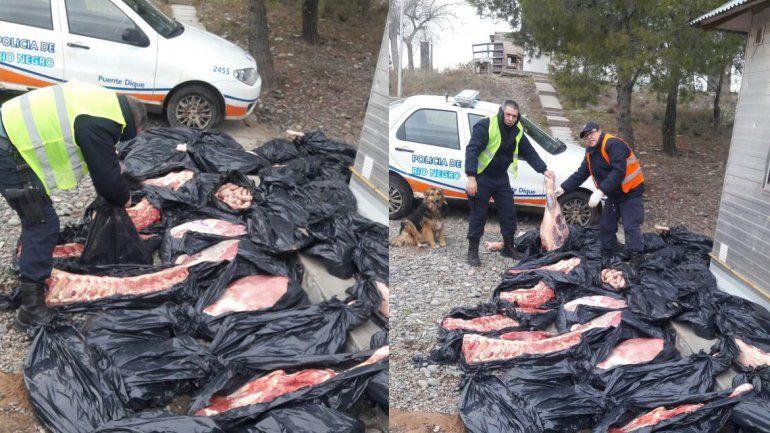 Decomisaron 800 kilos de carne y chacinados provenientes de La Pampa