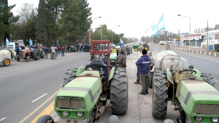 Los chacareros del Alto Valle protestarán en la rotonda contra el tarifazo