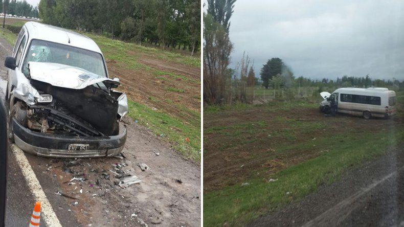 Dos heridos tras un fuerte choque en la Ruta 151