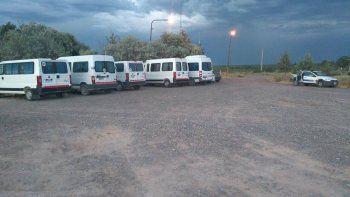 secuestraron seis trafics petroleras de neuquen sin habilitacion