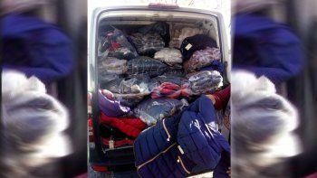 Hallan gran cargamento de ropa trucha que venía al Valle
