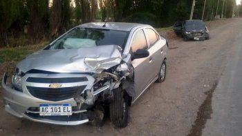 Tres vehículos se vieron involucrados en el accidente de la Ruta Chica.