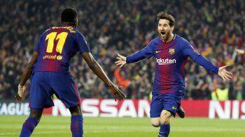 lio messi la rompio: hizo dos goles, clasifico al barcelona a octavos y llego a 100 en champions