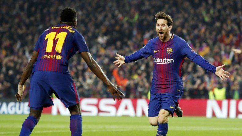 Messi la rompió: hizo dos goles, clasificó al Barça a octavos y llegó a cien en Champions
