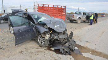 El accidente ocurrió a la altura del kilómetro 1241 de la Ruta Nacional 22.Sebastian Fariña Petersen