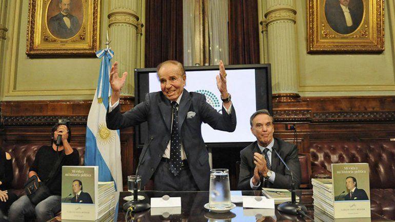 Menem postuló a Pichetto como candidato a presidente