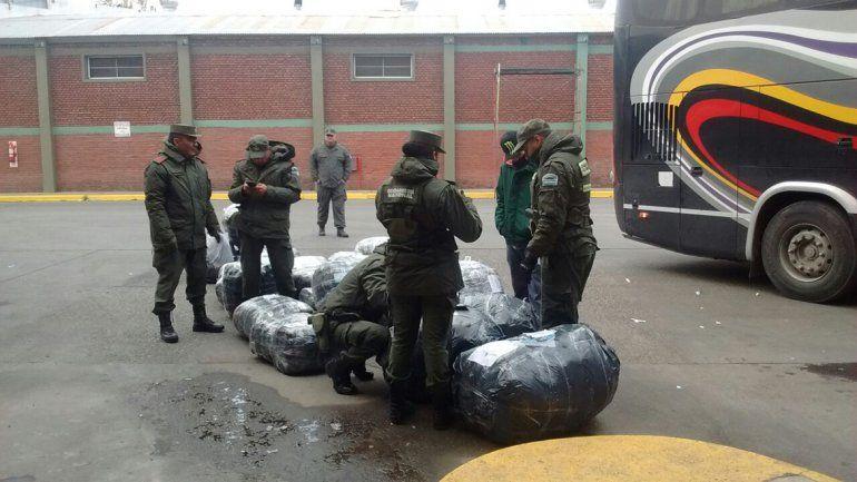 Secuestraron 20 bolsones sospechosos en la terminal de Cipolletti