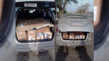 Atraparon a un chino intentando contrabandear 320 kilos de queso