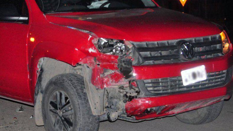 Un brutal accidente de tránsito dejó un motociclista grave