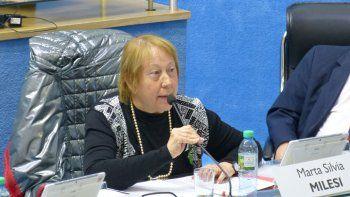 La legisladora Marta Milesi repudió las polémicas declaraciones de la presidenta del Deliberante, Marisa Lazzaretti.