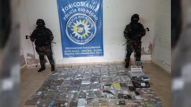 Desarticularon una banda narco que operaba en el Valle y secuestraron 85 kilos de marihuana