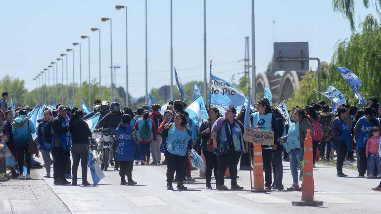 Barrios de Pie liberó los puentes tras dos horas de piquete