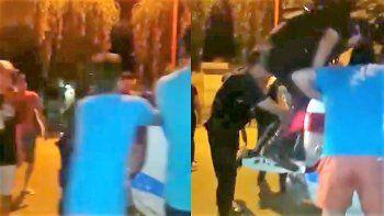 asi goleparon a motochorros que asaltaron a dos mujeres