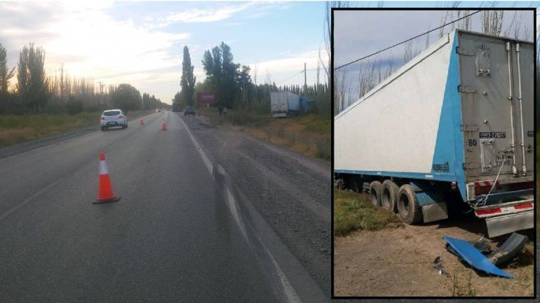 Susto sobre la Ruta 151: dos camiones perdieron el control y despistaron