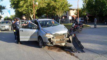 chocaron y se escaparon porque el auto era robado