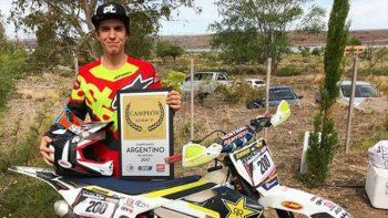 joven piloto de enduro murio tras un accidente en catriel