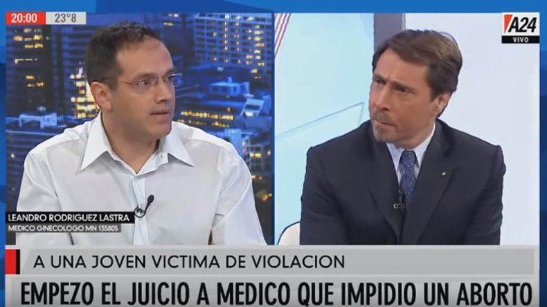 Polémica entrevista de Feinmann al médico que va a juicio por negar un aborto en Cipolletti