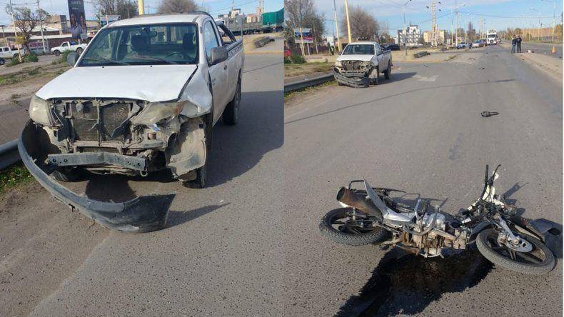 Ruta 151: un motociclista murió tras impactar contra una camioneta