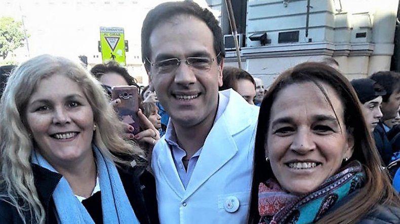 Rodríguez Lastra y Cecilia Pando durante un acto en Buenos Aires.