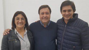 Silva, Weretilneck y Lescano, candidatos a senadores.