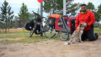 bombero pretende unir cipo con la quiaca en bici