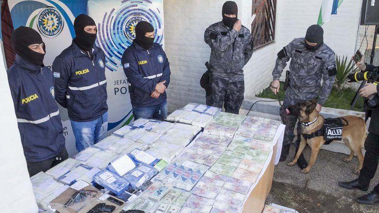 Espectacular operativo de seguridad para el traslado de los detenidos por la causa narco