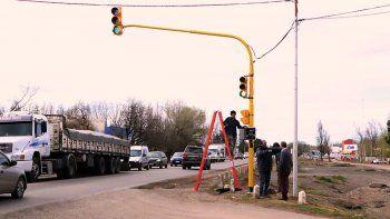 desde manana queda habilitado el semaforo en la ruta 22