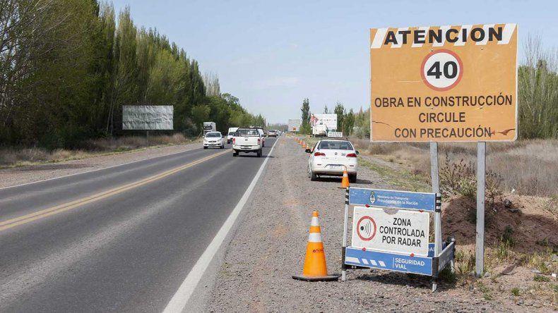Los automovilistas duplican la máxima permitida en la Ruta 22