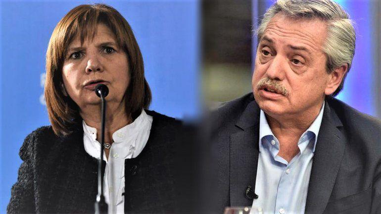 La guerra tuitera entre Patricia Bullrich y Alberto Fernández
