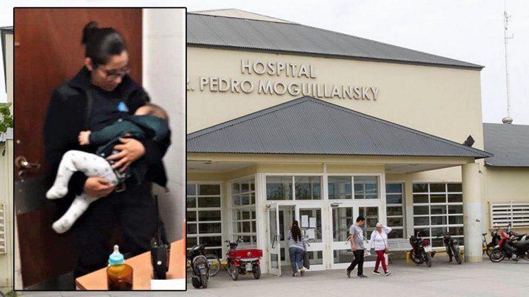 Una policía amamantó a un bebé que fue golpeado durante un extraño ritual religioso