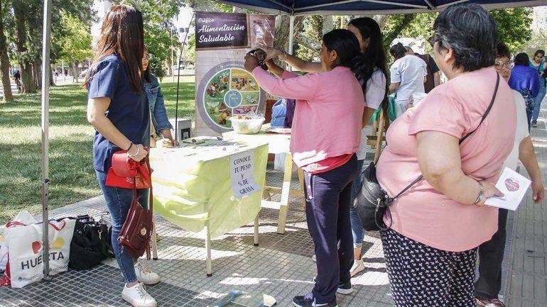 Concientizaron en la plaza por el Día Mundial de la Diabetes