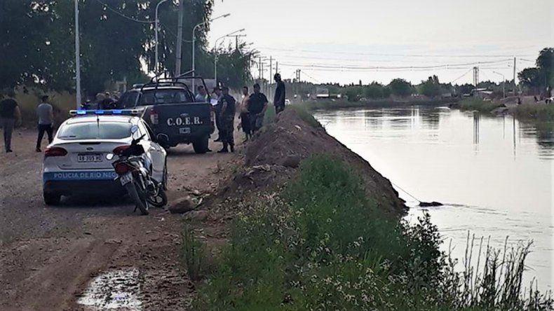 Encontraron muerto al hombre que cayó con su auto al Canal Principal