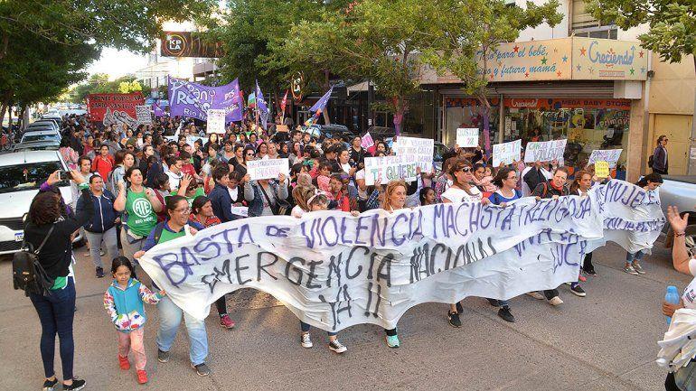 Las cipoleñas coparon las calles en contra de la violencia de género