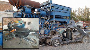 ruta 22: dos motociclistas murieron en brutal accidente