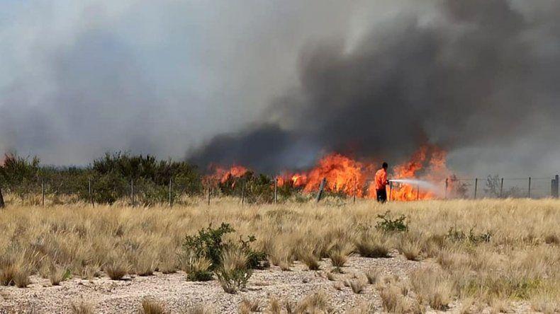 Mirá el operativo de los brigadistas para controlar el fuego en Las Grutas