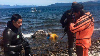 aparecio muerto el kayakista ingles que cayo al lago nahuel huapi