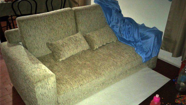 Encontraron un costoso sillón robado en la casa de un empleado