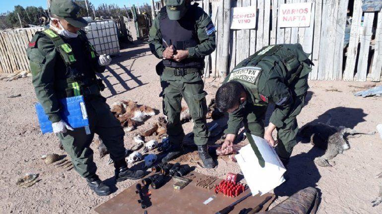 Impresionante allanamiento por una denuncia por caza furtiva en la región