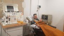 cipoleno recuperado es el primer donante de plasma en rio negro