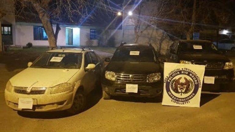 Recuperaron tres vehículos que habían sido robados
