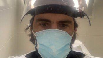 Pablo, el terapista de Buenos Aires que brinda asistencia en Río Negro