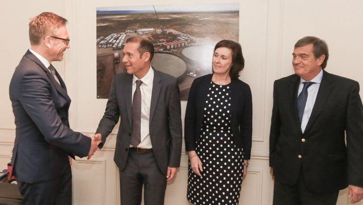 Gutiérrez se reunió con directivos de ConocoPhillips y Wintershall Dea
