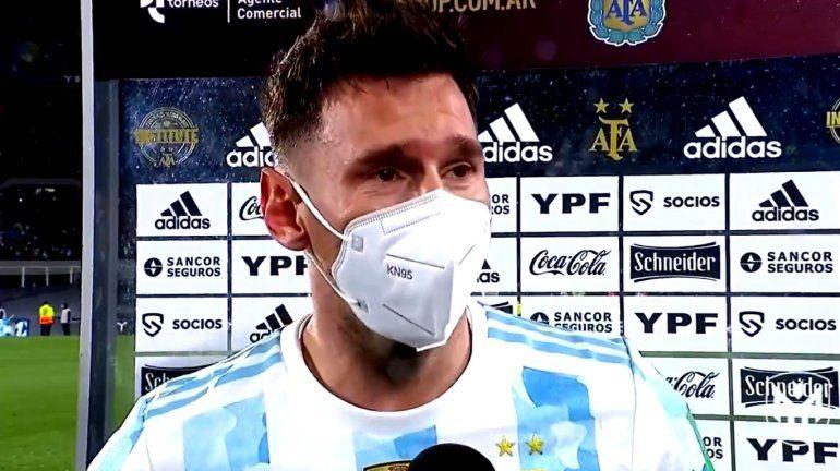 Messi, el récord, la emoción hasta las lágrimas y la vuelta olímpica en el Monumental