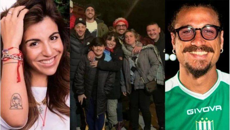 Gianinna y Daniel Osvaldo se escaparon de la prensa en San Martín