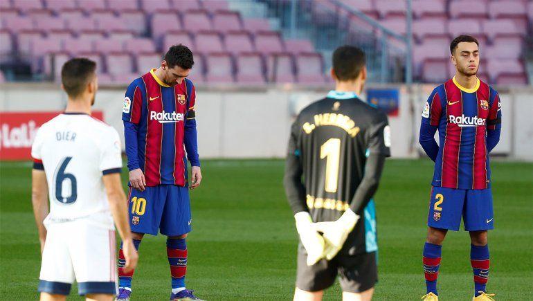 Mirá el emotivo homenaje de Barcelona a Diego