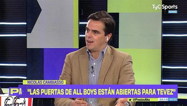 Nicolás Cambiasso hizo oficial el interés de All Boys por Tevez.