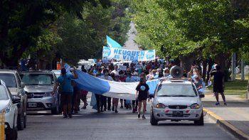 Movilización por el centro en rechazo del proyecto del aborto